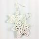 quilled snowflake earrings, Christmas earrings, paper quilling earrings