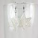 snow earrings, handmade snowflakes, handmade snowflake earrings, paper snowflake