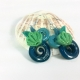 Seashell Jewelry, seashell earrings, paper earrings, beach earrings, beach style