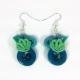 nautical earrings, resort jewelry, yacht club fashion, sea shell earrings