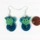 mermaid costume jewelry, sea green seashell, sea green shell, green and blue