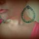 huge earrings, oversized earrings, green hoop earrings, green earrings
