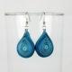 chunky teardrop earrings, blue teardrop earrings, blue earrings, drop earrings