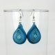 chunky teardrop earrings, blue teardrop earrings, blue earrings, drop earrings