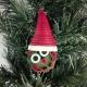 handmade ornament, handmade owl ornament, lightweight ornament, owl Santa