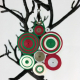 Christmas jewelry, unique Christmas, red and green necklace, cute Christmas