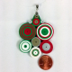 gift for her, paper anniversary, paper gift, art deco necklace, Christmas colors