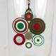 circle necklace, circle cluster necklace, circle pendant, circle cluster pendant