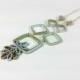 mod jewelry, modern jewelry, mod necklace, geometric necklace, square necklace