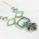 mixed metal necklace, eco chic jewelry, eco fashion, art deco jewelry, jewellery