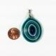 large pendant, chunky pendant, geometric pendant, striped pendant, big pendant