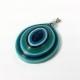 blue third eye, paper quilled pendant, blue eye pendant, blue eye jewelry