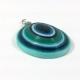 blue pendant, third eye pendant, boho chic pendant, paper quilling, faux agate