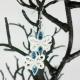 blue and white bridesmaid earrings, bridesmaid earrings, something blue