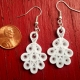 bright white earrings, lightweight earrings, elegant earrings, different earring
