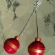 paper quilling earrings, Christmas earrings, handmade Christmas earrings