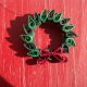 lightweight wreath, green wreath, paper gift, Christmas gift, gift for her, xmas