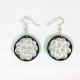 black and white earrings, paper quilling earrings, paper filigree earrings