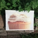 frosted cupcake, kitchen decor, kitchen sign, canvas wall art, cupcake sign