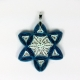 handmade Star of David pendant, paper quilling jewelry, Jewish star necklace