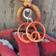 small orange hoops, orange hoop earrings, small hoop earrings, orange hoops