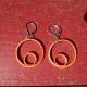 paper hoop earrings, handmade hoop earrings, handmade paper jewelry
