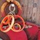 handmade paper earrings, handmade jewelry, paper anniversary gift, handmade hoop