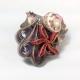 Seashell Starfish Paper Quilling Pendant, paper quilling seashell pendant
