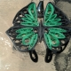 black butterfly, butterfly jewelry, handmade butterfly, handmade necklace