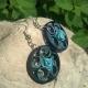 bridesmaid earrings, blue earrings, paper quilling earrings, paper earrings