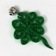 four leaf clover necklace, St Patricks Day necklace, shamrock necklace, handmade