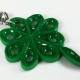 four leaf clover charm, four leaf clover jewelry, Patricks Day outfit