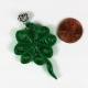 shamrock jewelry, irish necklace, celtic necklace, paper quill shamrock