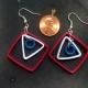 fourth of july earrings, unique earrings, american earrings, american jewelry