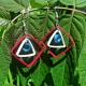 paper quilled earrings, American earrings, geometric earrings, art deco earrings