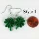 quilling shamrocks, quilled clovers, irish jewellery, irish earrings green