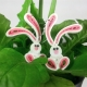 paper quilled earrings, rabbit earrings, bunnies earrings, paper quill jewelry