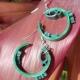 paper quill earrings, paper quilling jewelry, green earrings, celtic earrings