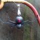 black widow necklace, paper spider, realistic spider, handmade spider jewelry
