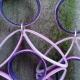 long purple earrings, purple quilling earrings, quilled jewelry, purple earrings