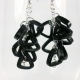 paper earrings, black triangle cluster, wear to work earrings, triangle jewelry