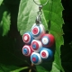 red white and blue jewelry, fourth of July necklace, cluster necklace