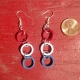 red white and blue dangle, red white and blue jewelry, american girl