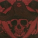 macabre art, pirate print, canvas wall art, handmade Halloween, skeleton pirate