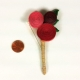 funky boutonniere, paper wedding flowers, eco chic wedding, handmade boutonniere