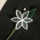 alternative wedding, alternative groom, paper flower boutonniere