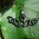 bat jewelry, Halloween bat, Halloween necklace, quilled bat, Halloween pendant