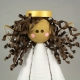 quilling christmas, small tree topper, tree topper for small tree, 4 inch angel