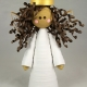 4 inch tree topper, african american angel, multicultural angel, hispanic angel