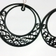 quilling jewelry, paper filigree, large hoops, crescent earrings, dangle hoops